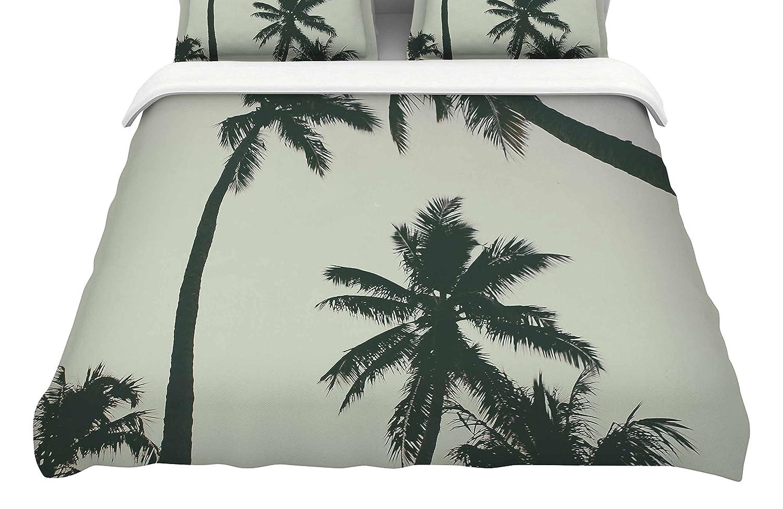 Kess InHouse Mary Carol Fitzgerald Rise of Palms King Cotton Duvet Cover 104 x 88 104 x 88