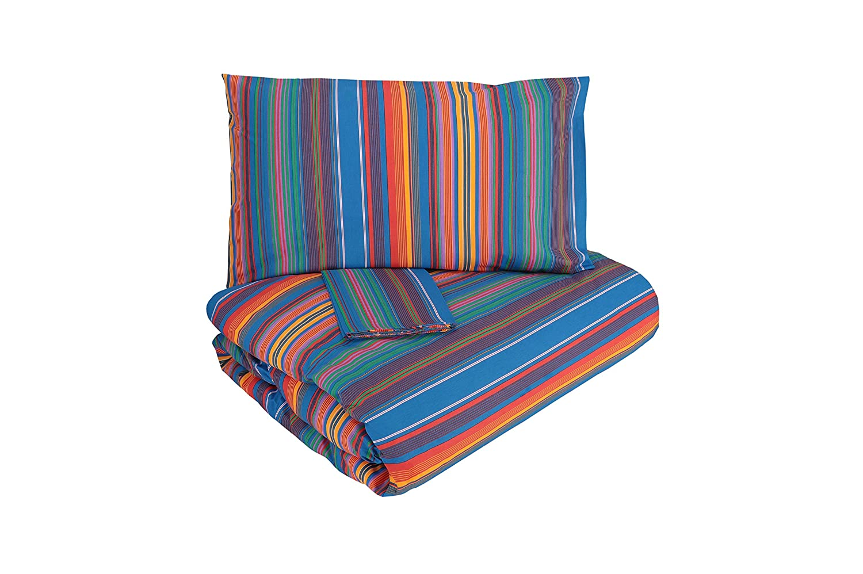 Gabel Infinito Bettwäsche-Set, Bettdeckenbezug, Blau, Mehrfarbig, 3 Stück