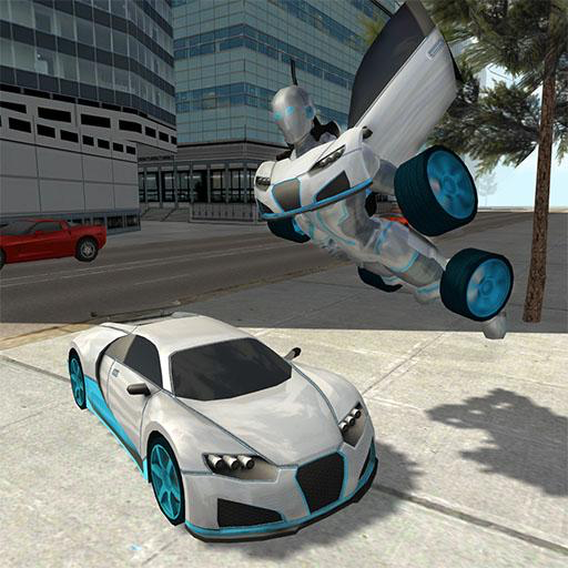 (Flying Car Robot Flight Drive Simulator Game)
