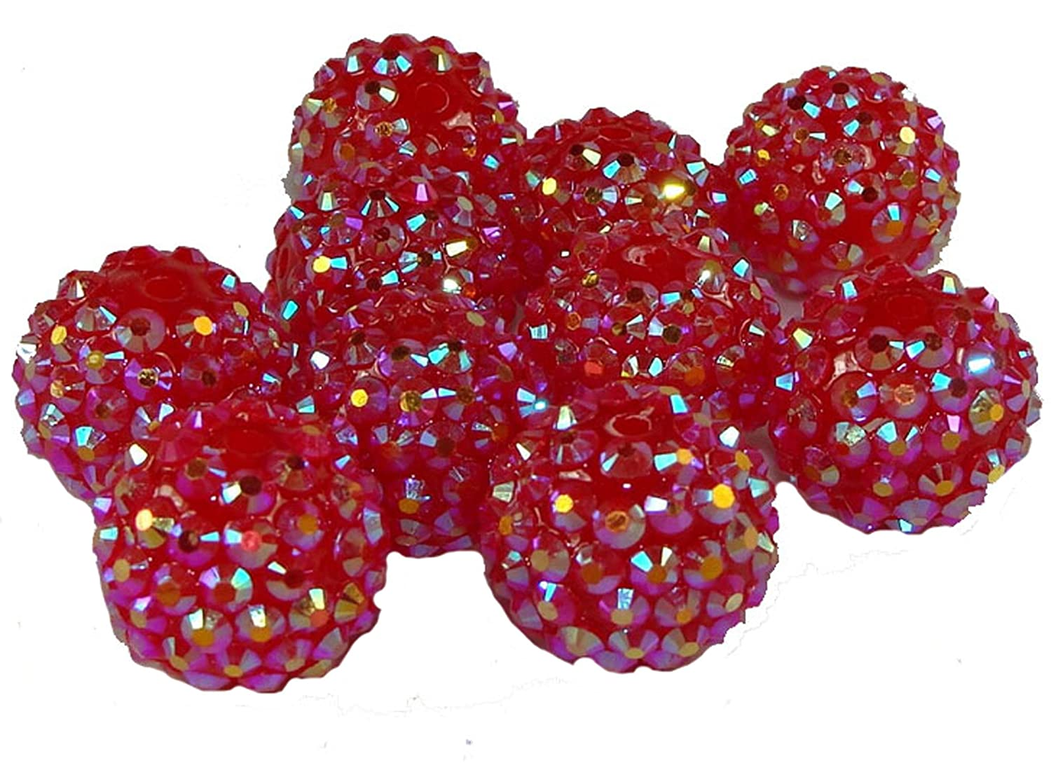 100 Mixed Colour Pearl Glass Beads - 6mm by Libbyshouse D6798