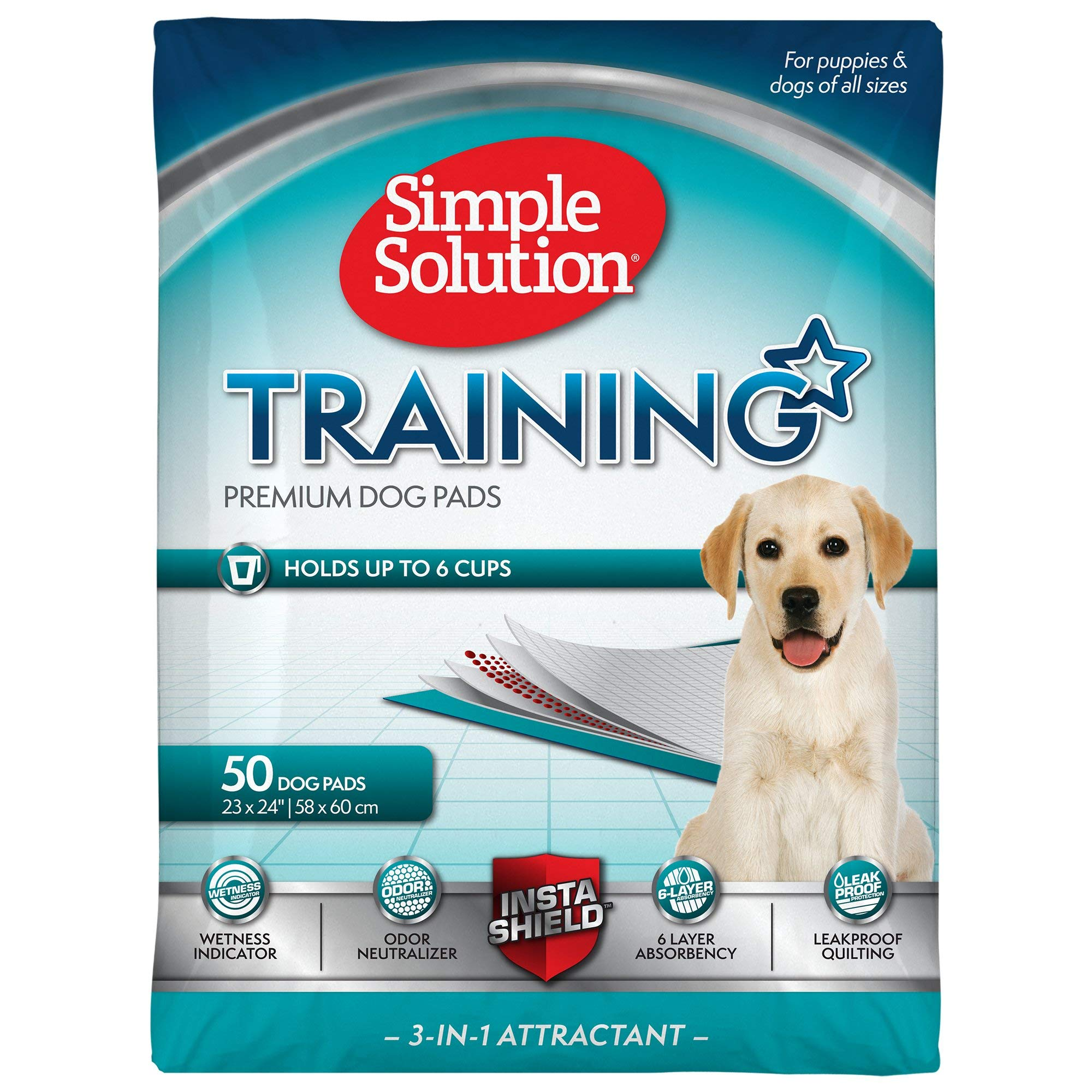 Simple Solution Original Puppy Training Pads 50pk by Simple Solution