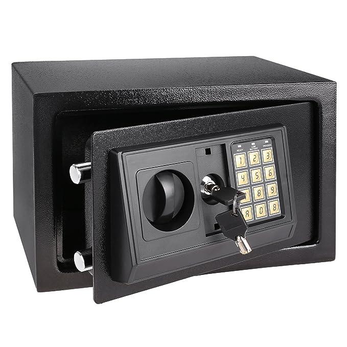 Meykey Caja Fuerte Seguridad Caja Fuerte grande 310×200×200 mm, Negro: Amazon.es: Bricolaje y herramientas