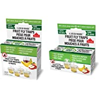 CatchMore Fruit Fly Traps, 100% Natural, Always Active, Pack of 4 Traps Plus a Bonus of 2 Traps for a Total of 6 Traps