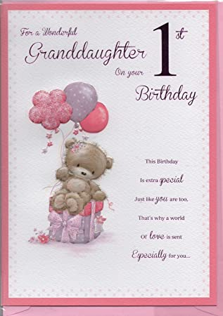 For A Wonderful Granddaughter On Your 1st Birthday