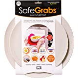 Safe Grabs: Multi-Purpose Silicone Original Microwave Mat as Seen on Shark Tank | Splatter Guard, Trivet, Hot Pad, Pot Holder