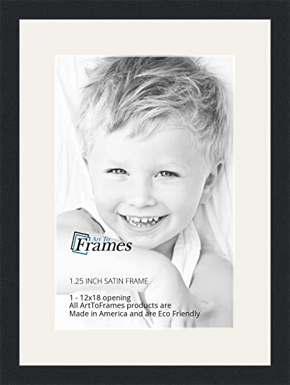 Amazon.com - ArtToFrames 12 x 18 Inch Opening Single Mat with a ...