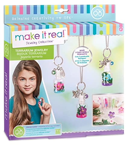 Make It Real - DIY Terrarium Jewelry. Terrarium Bottle Pendant Making Kit for Girls. Arts and Crafts Kit to Design and Create Beautiful Terrarium ...