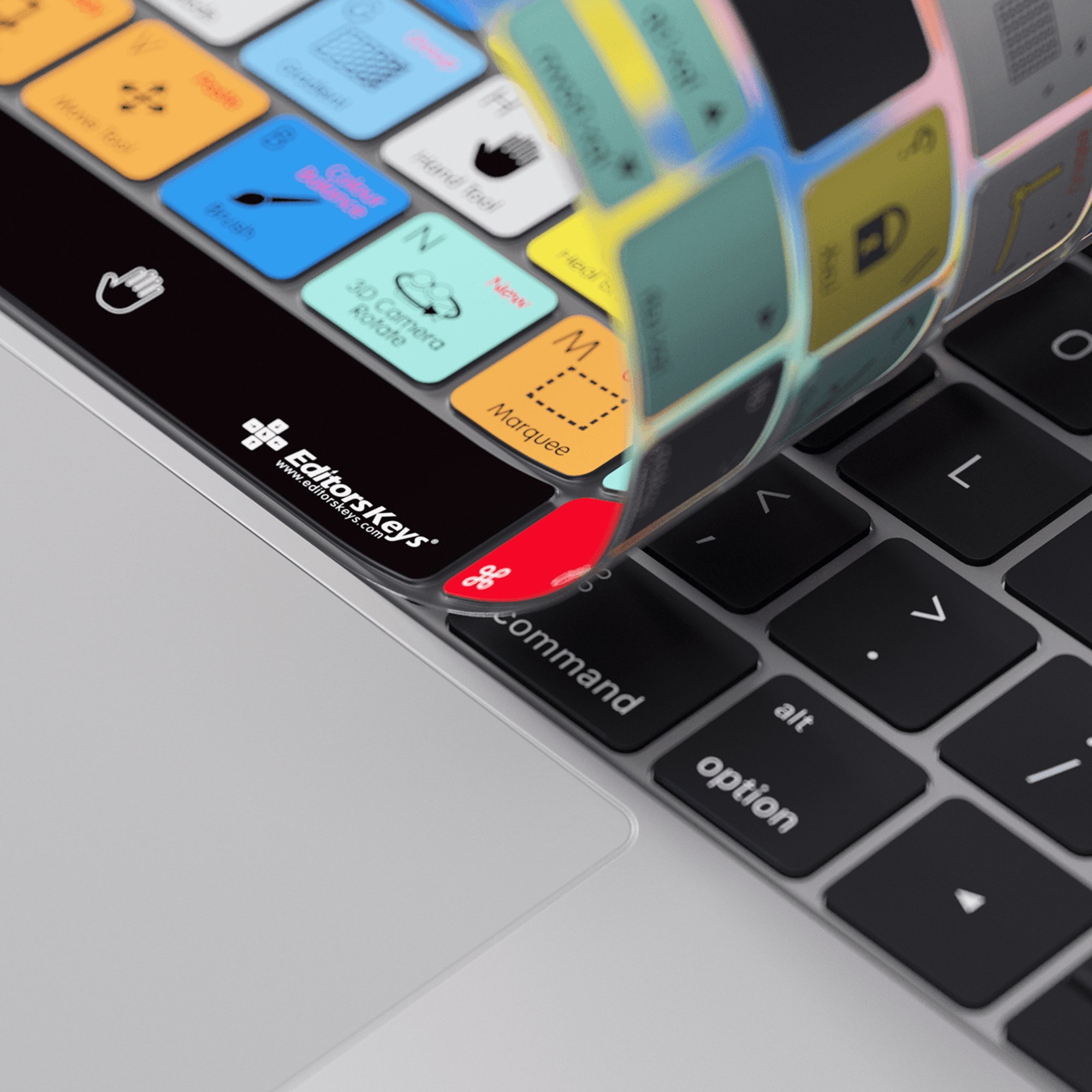 Adobe Photoshop Keyboard Cover for MacBook Pro Touch Bar - Protection and Shortcut Skin. 13'' | 15'' by Editors Keys, Adobe (Image #3)