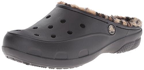 Femme Sabots Chaussures Freesail Crocs Leopard Lined Et zqwIw86A