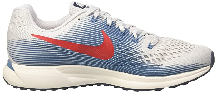 Amazon.com | NIKE Mens Air Zoom Pegasus 34, Vast Grey/University Red, 7 M US | Road Running