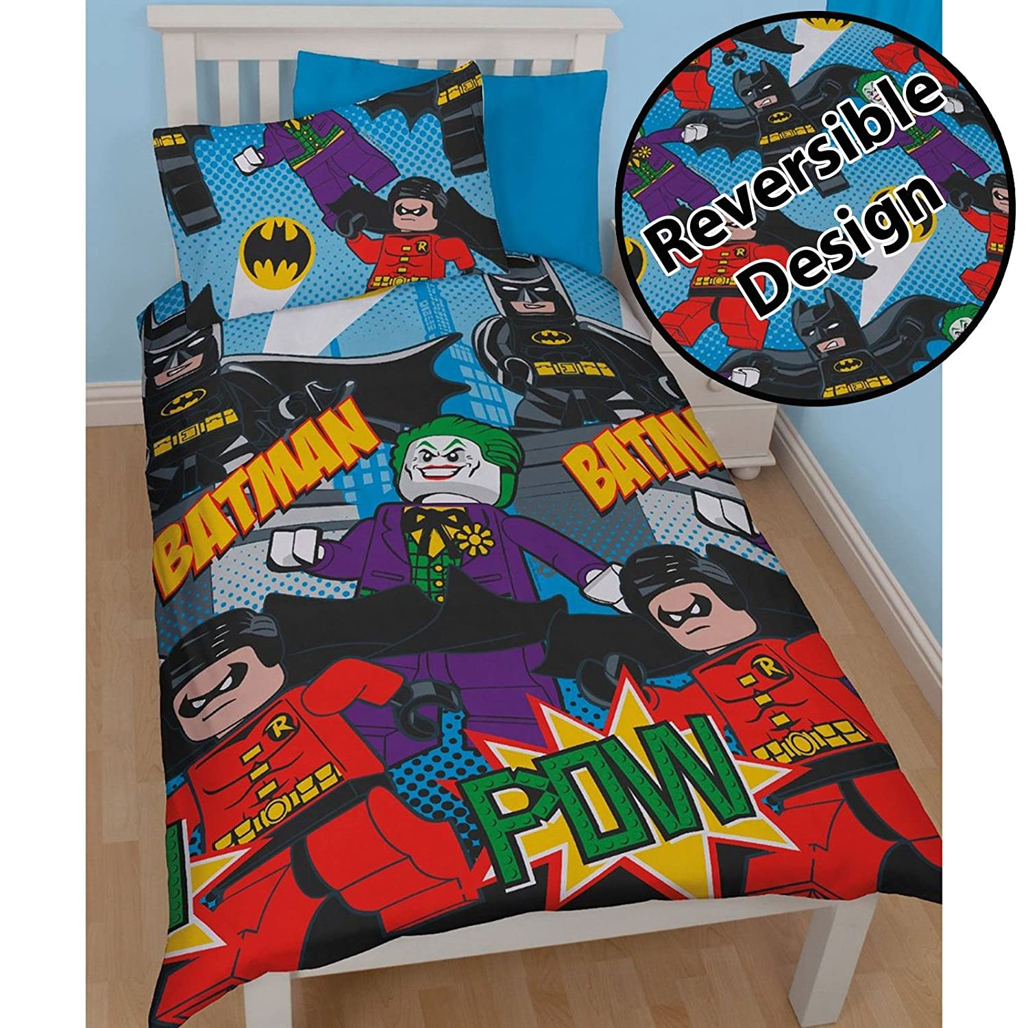Lego DC Superheroes Batman Dynamic Single/US Twin Duvet Cover Set