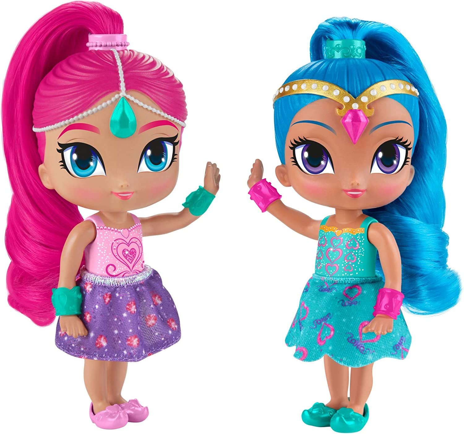 Multi-Colour 6-Inch Shimmer and Shine DLH57 Shine Doll