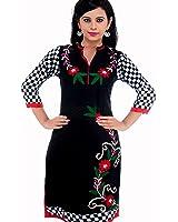 Nextar Women's Printed Long Kurti