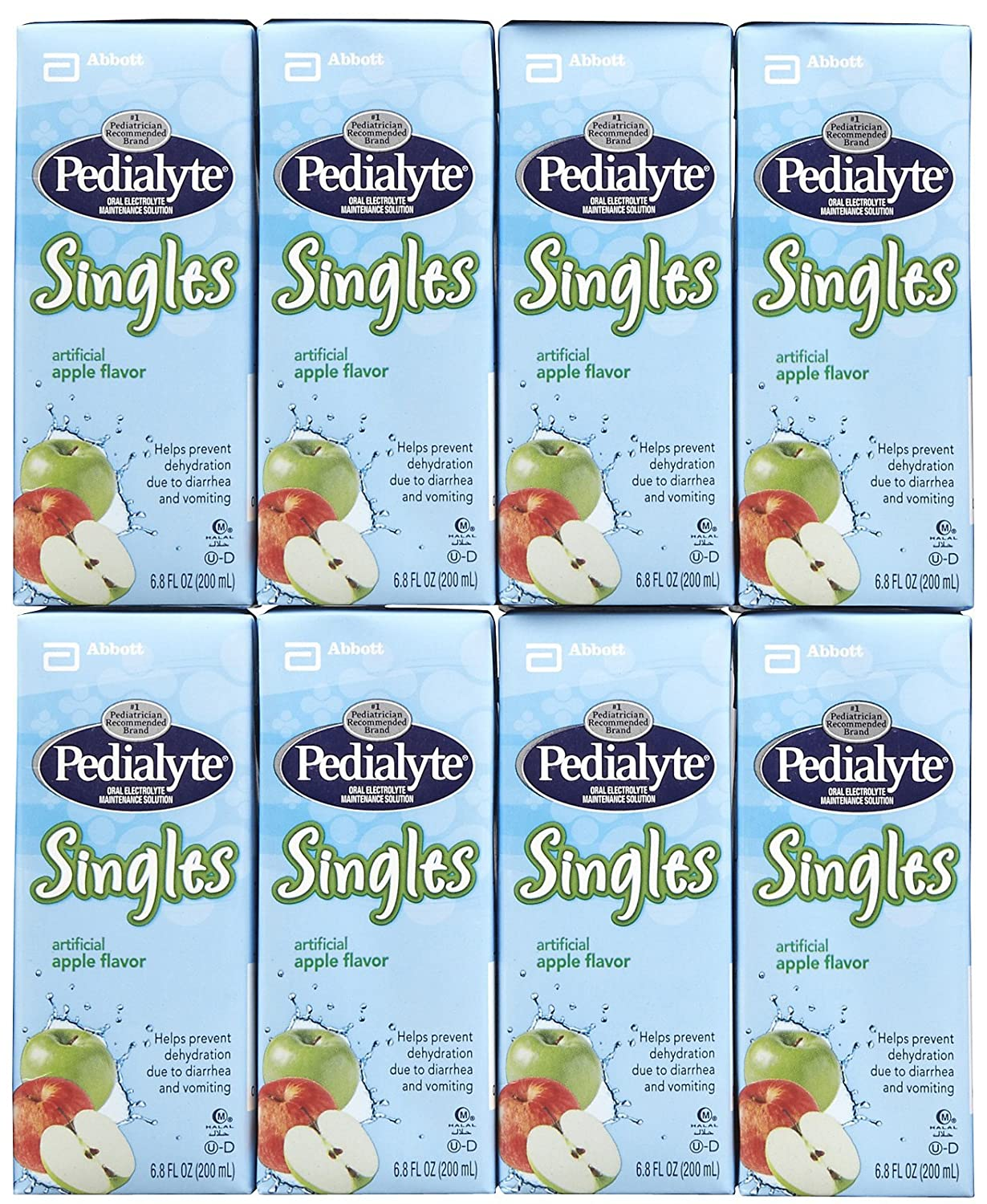 Amazon.com: Pedialyte Singles Apples (4)juice Boxes, Size:4x6.8 Oz: Health & Personal Care