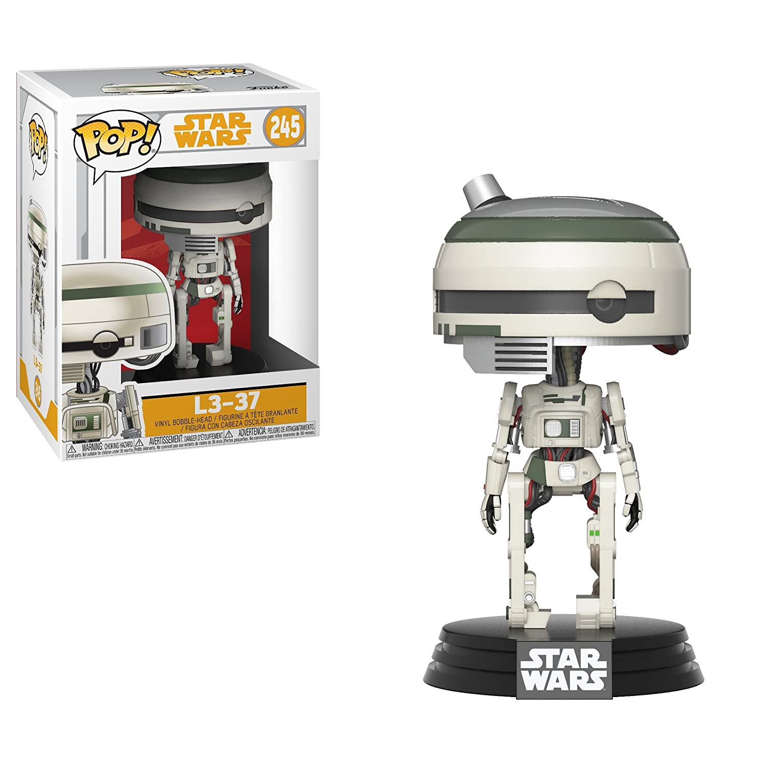 Funko Pop!- L3-37 Star Wars: Red Cup Figura de Vinilo, Multicolor (26990)