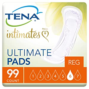 Tena Intimates Incontinence Pads/Bladder Control Pads For Women, Ultimate Absorbency, 99 Count