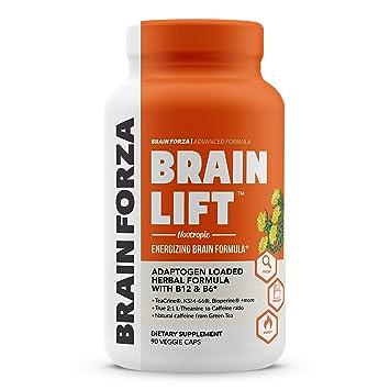 Brain Forza Brain Lift Herbal Nootropic for Focus, Memory and Energy w/  KSM-66 Ashwagandha,