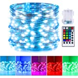 16 Color Changing Fairy Lights, 33 Feet 100 LEDs Battery Operated Twinkle Lights with Remote and 132 Light Modes Waterproof 3