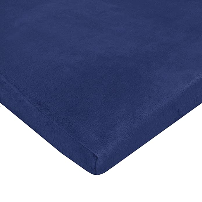 American Baby Company Heavenly Soft Chenille Fitted Pack N Play Playard Sheet, Navy, 27 x 39, for Boys