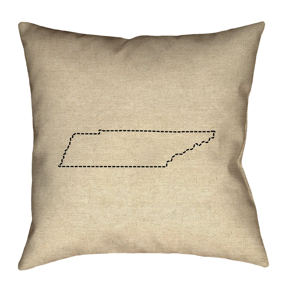 ArtVerse Katelyn Smith 40' x 40' Floor Double Sided Print with Concealed Zipper & Insert Tennessee Outline Pillow