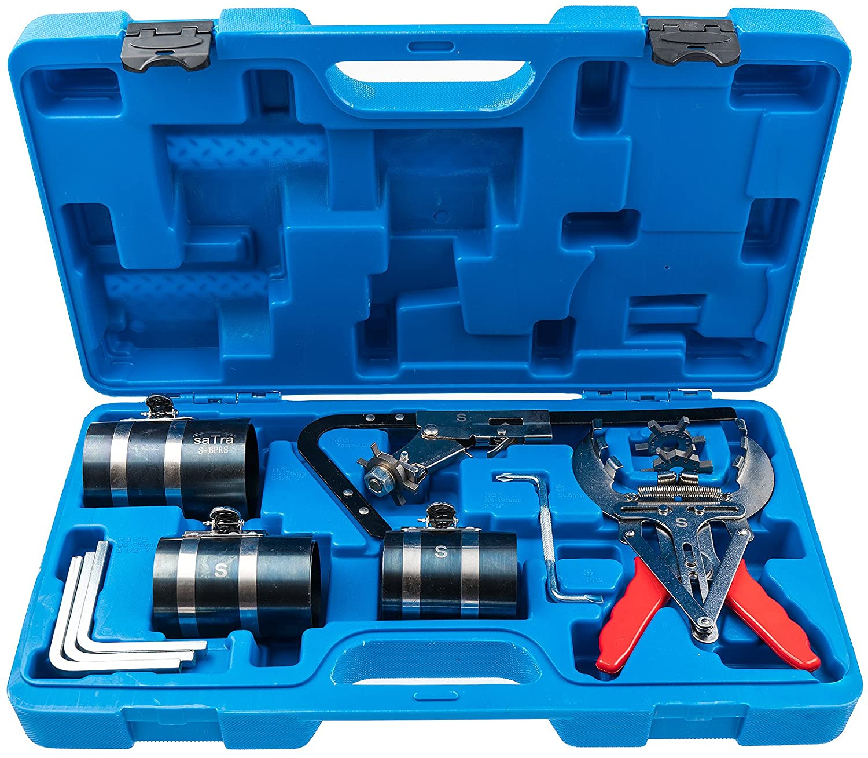 SATRA Piston Ring Service Tool Set Engine Ratchet Cleaning Expander Compressor