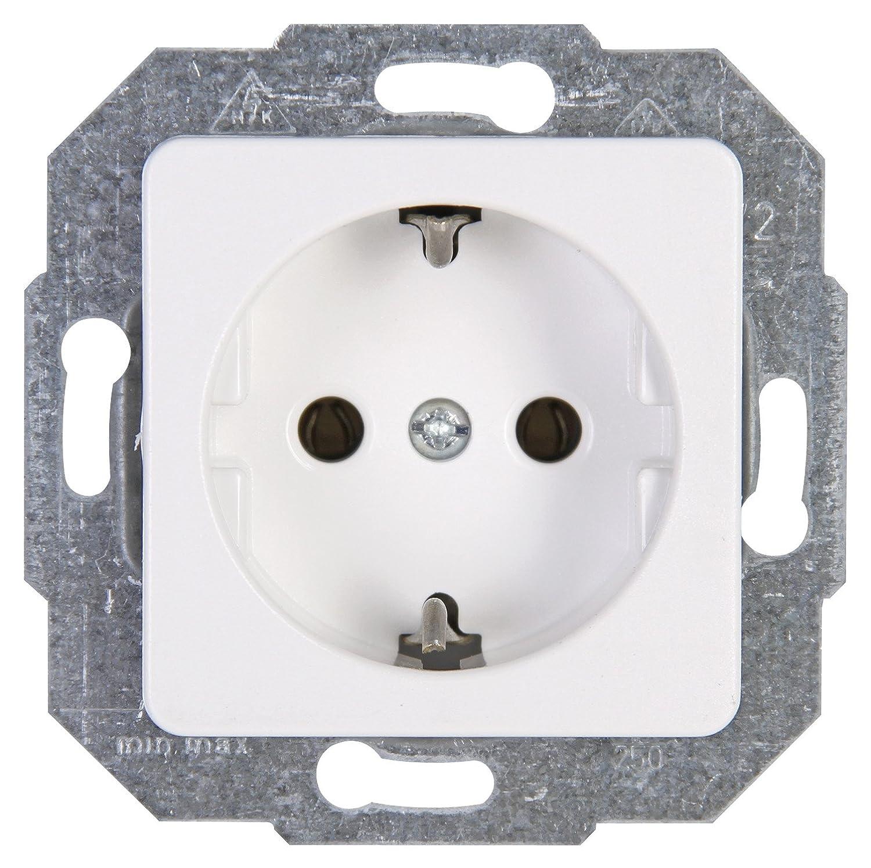 Kopp 912613066 Europa Schutzkontakt-Steckdose, 2-fach mit erhöhtem ...