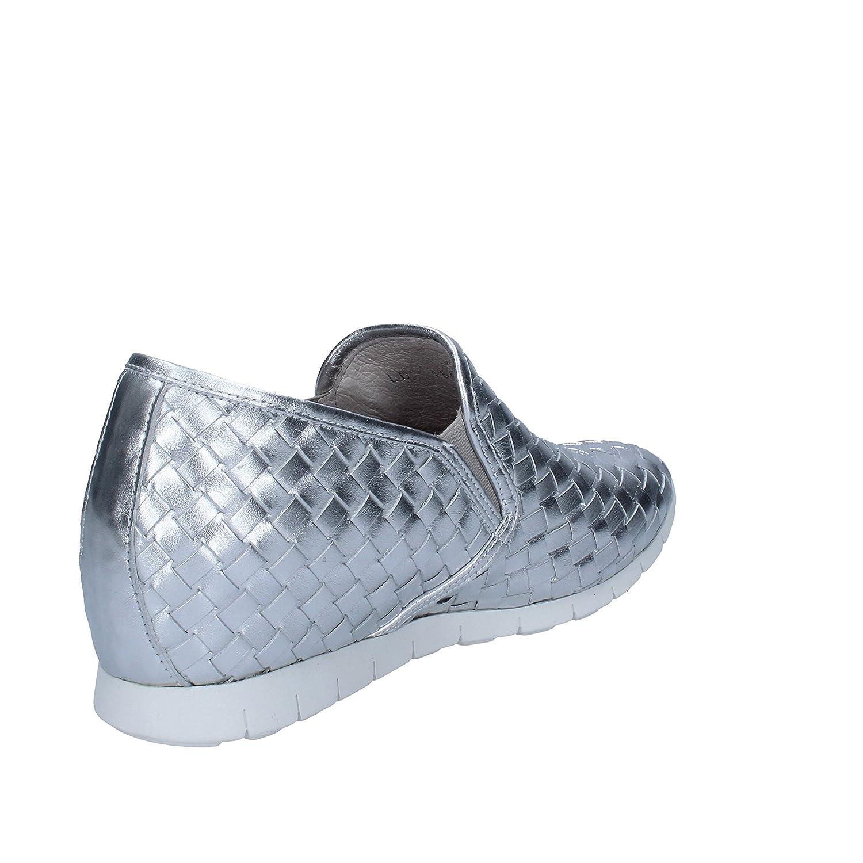 BOTTICELLI LIMITED - Mocasines de Piel para Mujer Plateado Size: 40: Amazon.es: Zapatos y complementos