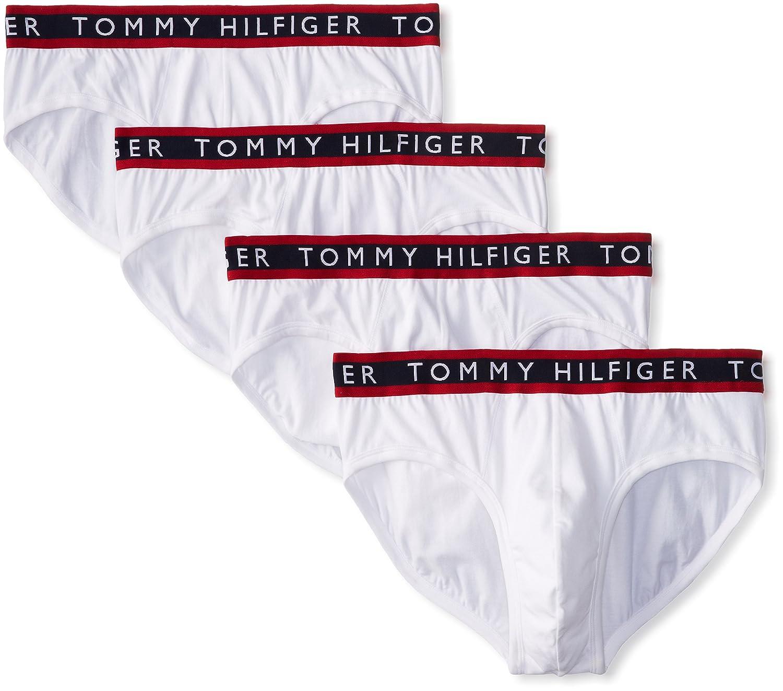 Tommy Hilfiger Men's 4-Pack Cotton Stretch Brief 09T0960
