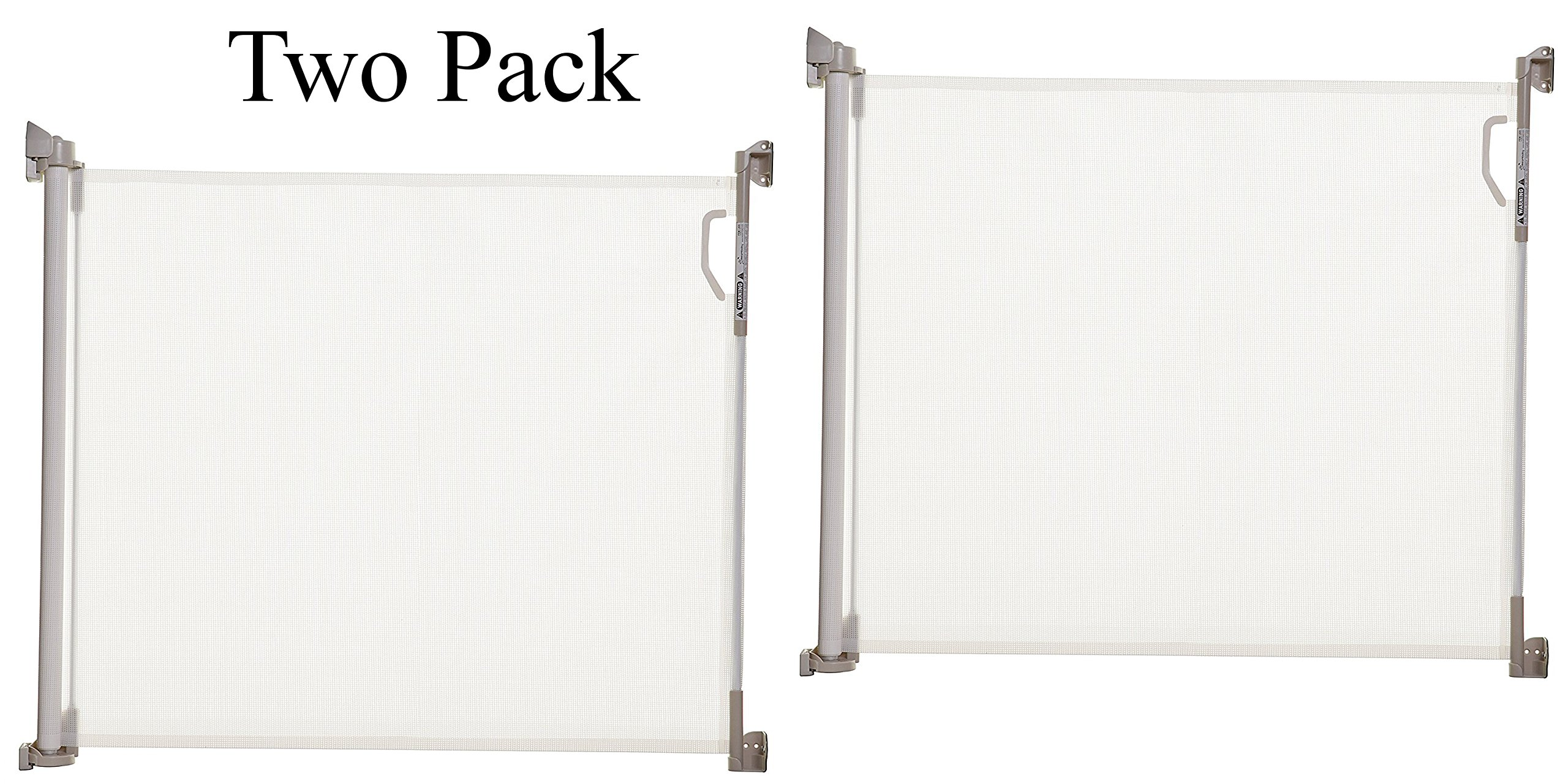 Dreambaby Retractable Gate, White (Pack of 2) by Dreambaby