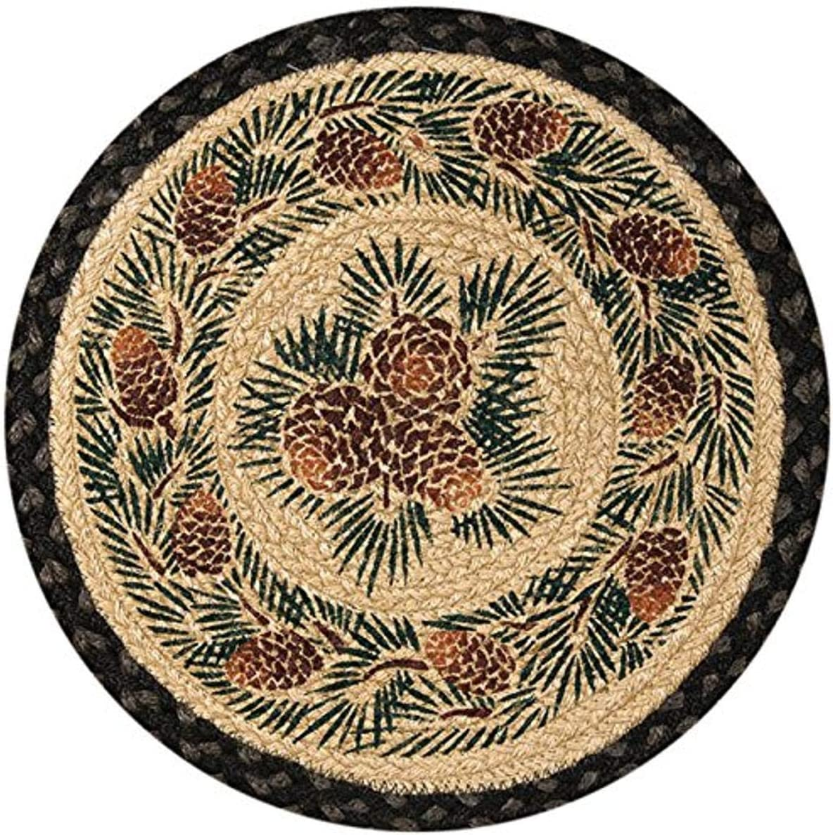 Earth Rugs 49-CH025A Chairpad, 15.5 , Charcoal