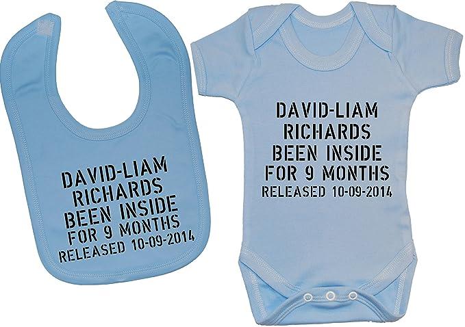 Personalizado con nombre fecha y la el nacimiento sido espacio en el interior para 9 meses