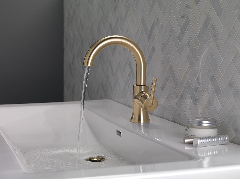 Amazon.com: Delta 559HA-CZ-DST Trinsic Single-Handle Bathroom Faucet ...