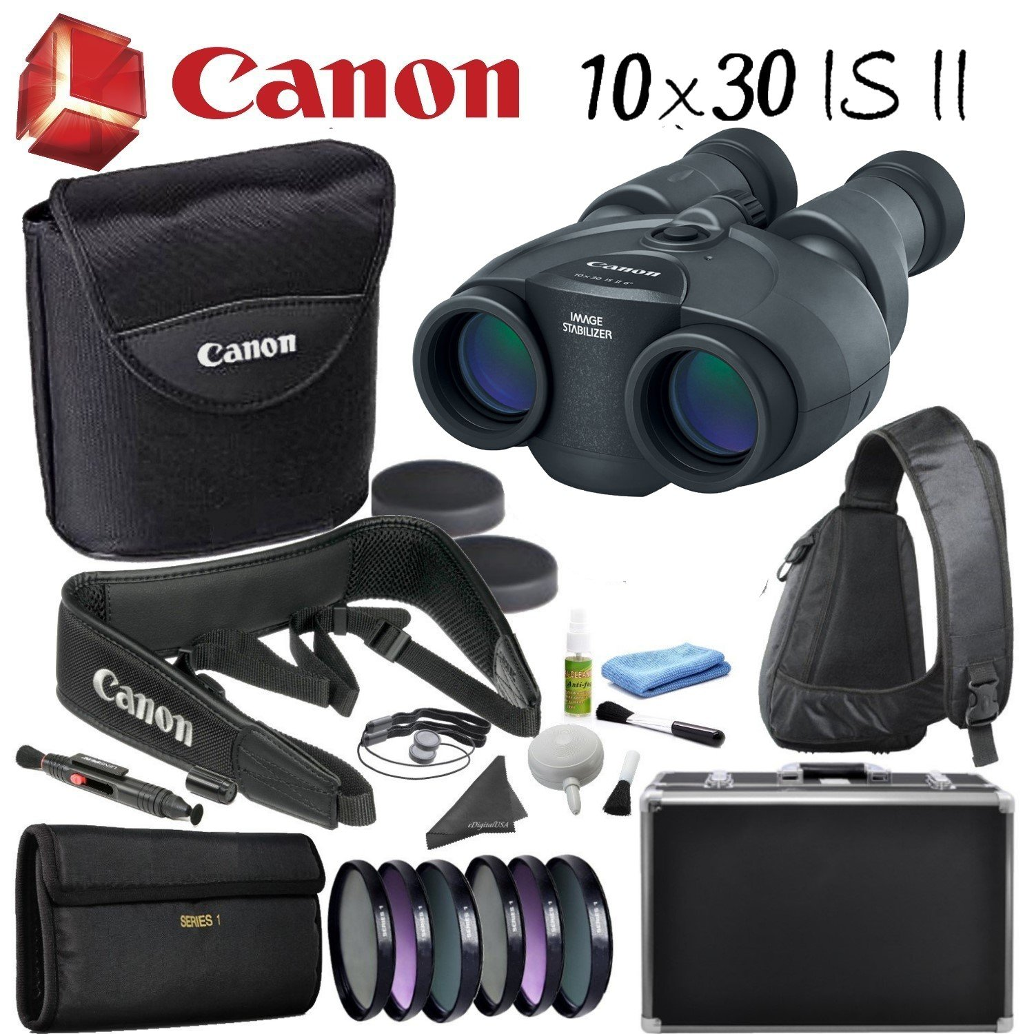 Canon Image Stabilized双眼バンドル B07D7DQWYM Professional Bundle|10x30 IS II Binoculars 10x30 IS II Binoculars Professional Bundle
