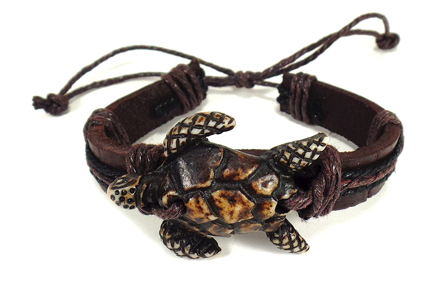 com handmade leather hawaiian dp a bracelet sea turtle amazon jewelry