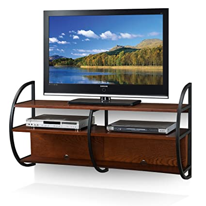 Leick 84101 Home Floating Wall Mounted Tv Stand Medium Oak Finish