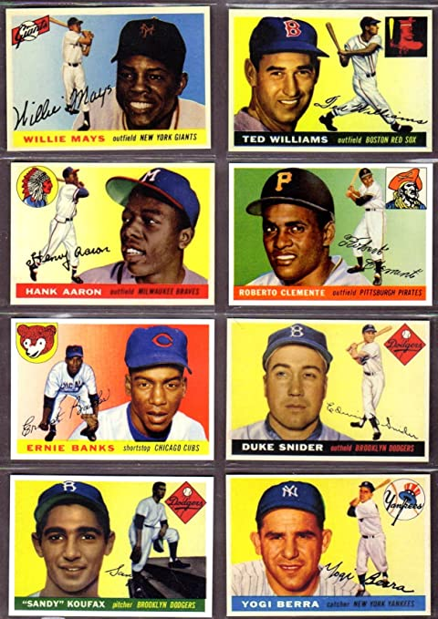 1955 Topps Baseball 8 Card Reprint Lot Willie Mays