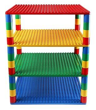 2 Noppen doppelte Höhe Lego DUPLO gelb rot grün 8 Bausteine