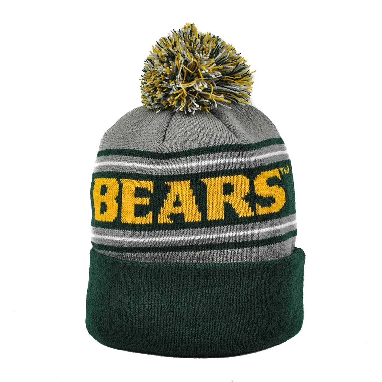 online store 15849 6f59e Amazon.com   Top of the World Baylor Bears Green   Gray Ambient Cuffed Pom  Knit Hat (Adult One Size)   Sports   Outdoors