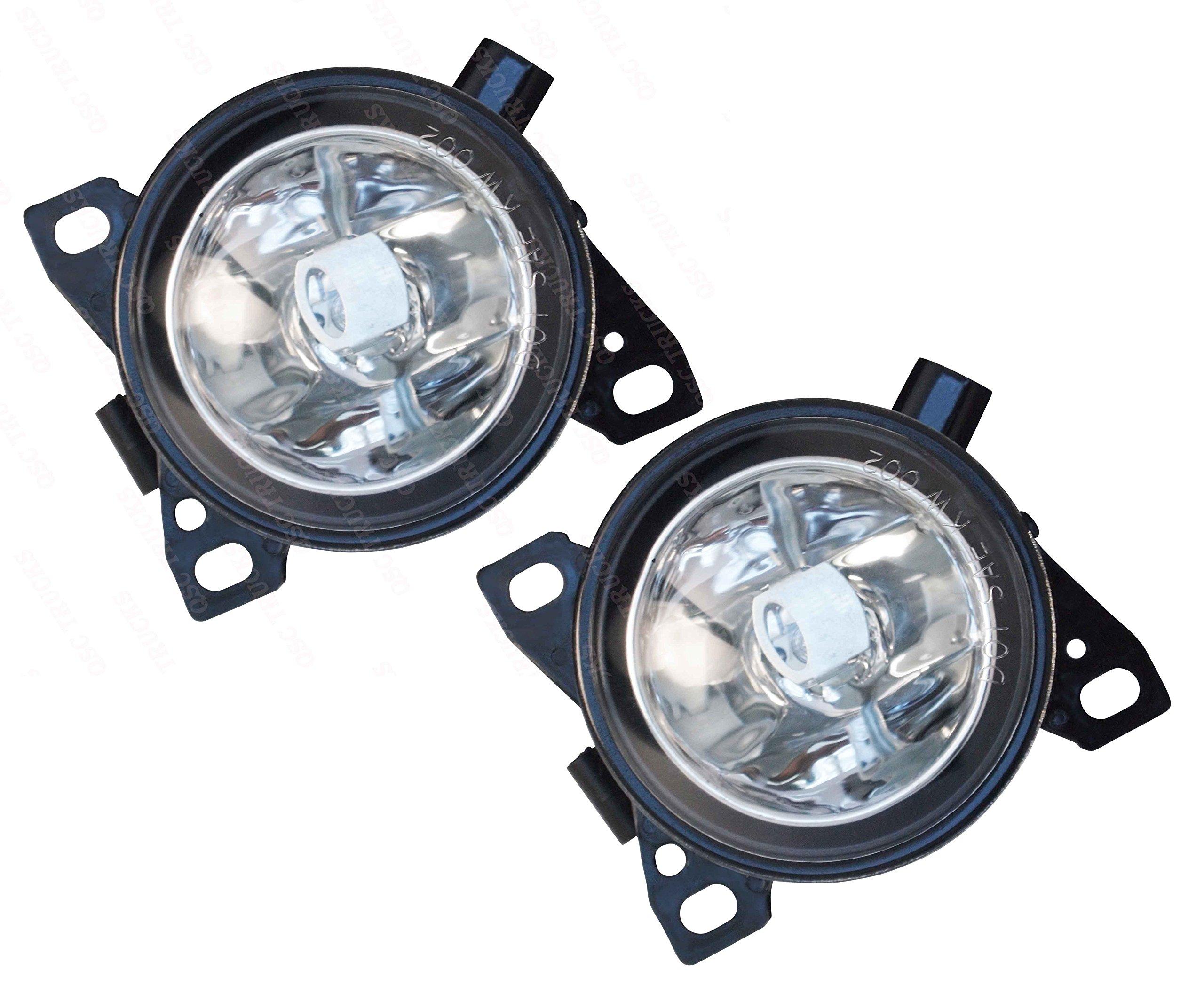 QSC Fog Lights Lamps Pair LH RH w/Bulbs for Kenworth T660 Peterbilt 579 587
