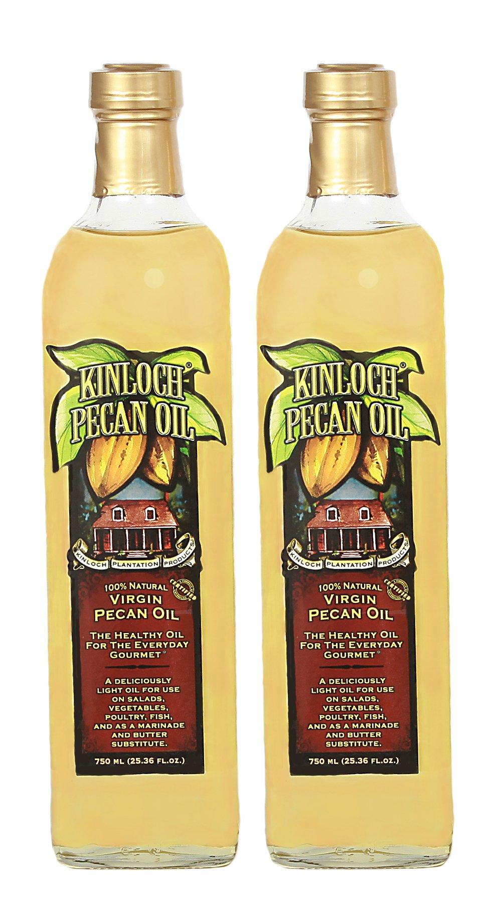Kinloch Plantation Products Pecan Oil,  Two (2) 750 ML Bottles by Kinloch Plantation
