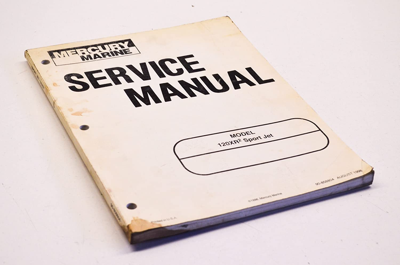 Amazon.com: Mercury 90-858804 Service Manual 120XR2 Sport Jet QTY 1:  Automotive