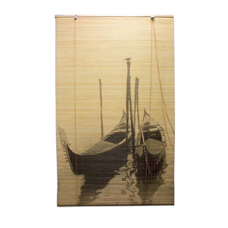 Ev Tapparella Gondola in Bamboo c//carrucola 100x160 cm Porta Finestra Privacy Luce