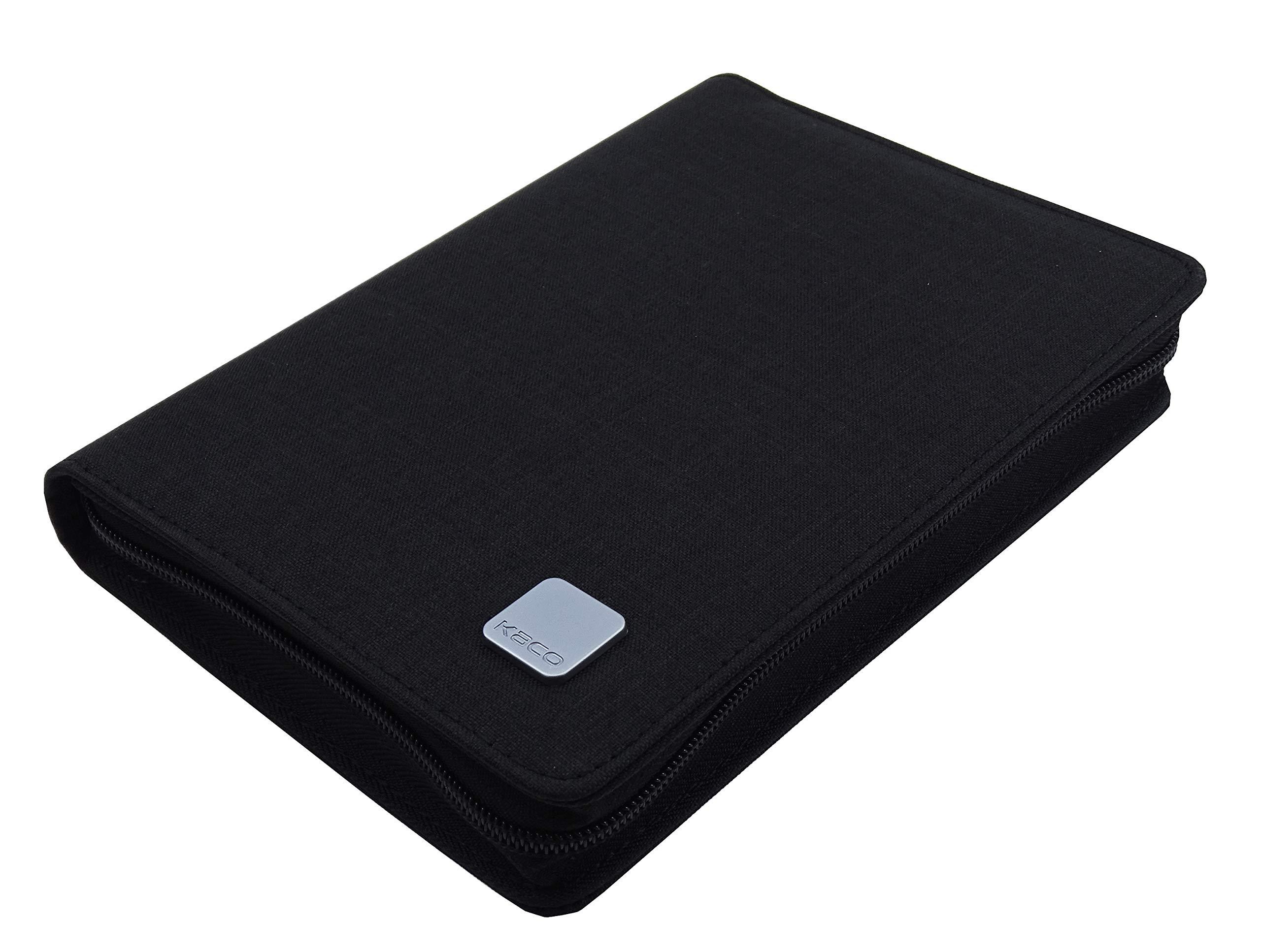 KACO Fountain Pen Pouch Pen, Rollerball Pen Case Bag, Business Style Black Waterproof for 10 Pen Pocket