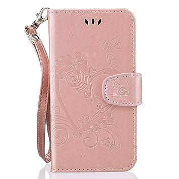 pinlu® Funda para Huawei Y635 (5pulgada) Smartphone Flip Billetera Carcasa Delgado PU Cuero Cover Función de Soporte con Ranura Case Amor Corazón ...
