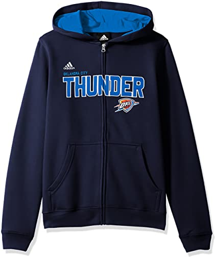 Oklahoma City Thunder Youth Niños NBA Adidas Stated Full Zip Sudadera con Capucha, Medium
