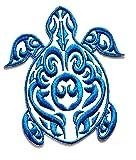 Nipitshop Patches White Blue Turtle sea Animal