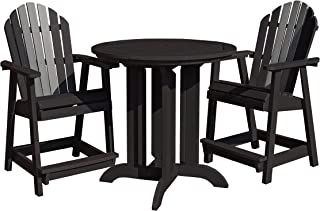 product image for highwood 3 Piece Hamilton Round Counter Height Dining Set, Luxor