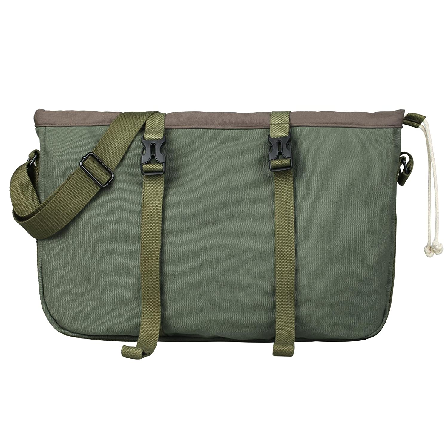 Superzero Water Resistant Canvas Messenger Shoulder Bag for MenWomen Vintage Business Laptop Computer Bag Fit Laptops 13 14 and up to 15.6 Inches