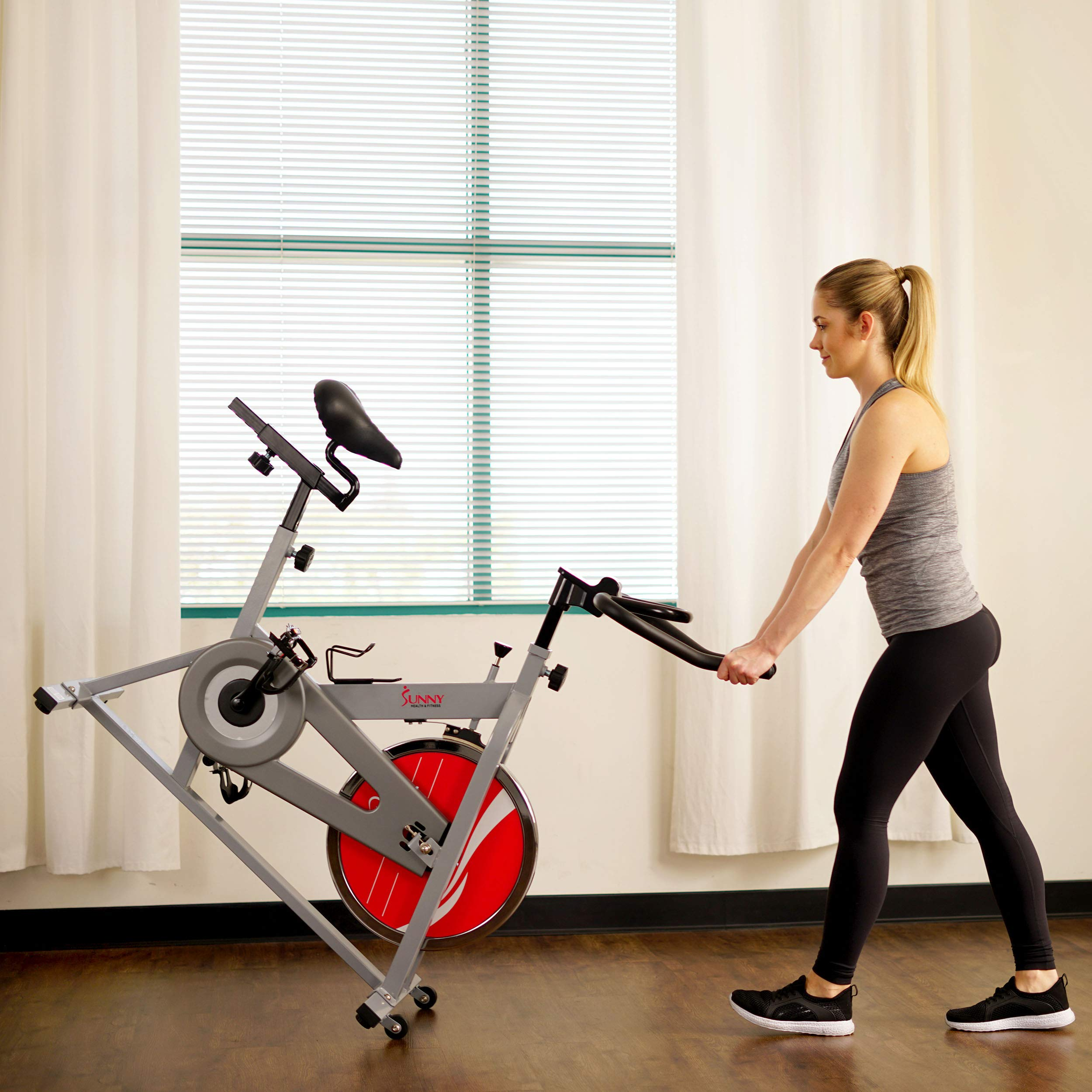 Sunny Health & Fitness SF-B1001S Indoor Cycling Bike, Silver by Sunny Health & Fitness (Image #15)