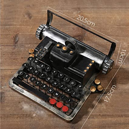 WKAIJCO Ornamentos Vintage Retro Máquina De Escribir Bares Creatividad Decoración Ropa Tienda Ventanas Muebles Fotografía Accesorios